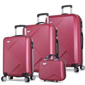 My Valice Diamond Abs 4lü Travel Valiz Seti Bordo