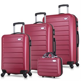 My Valice Ruby Abs 4lü Travel Valiz Seti Bordo